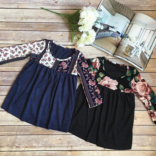Floral Suede dress