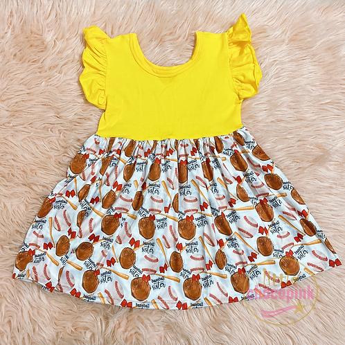 Baseball twirl dress