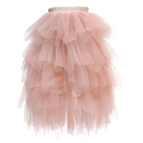 Maxi tulle skirts in pink
