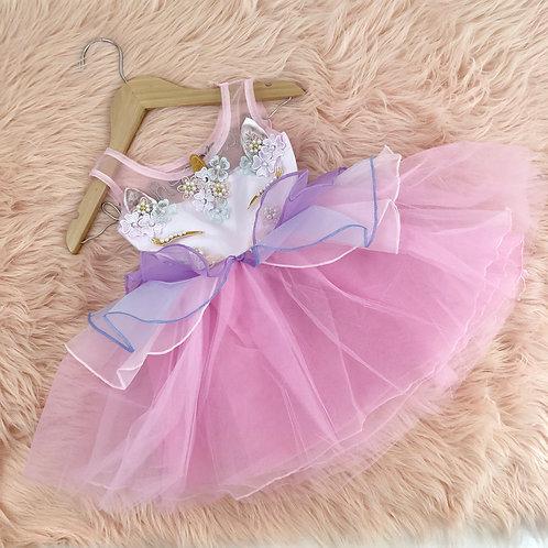 Unicorn dress pink or purple