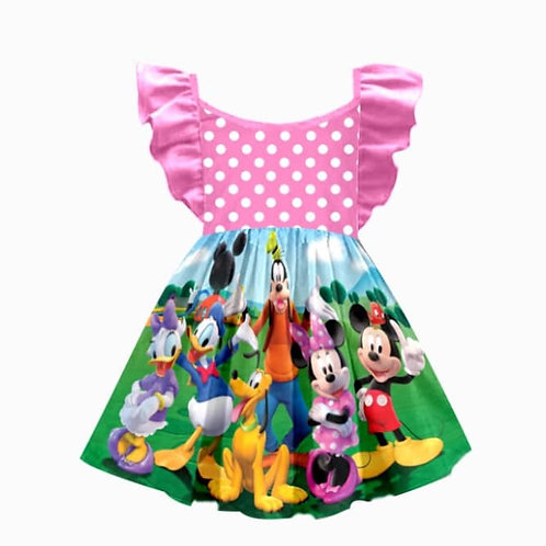 Mickey & friends dress/ raglan