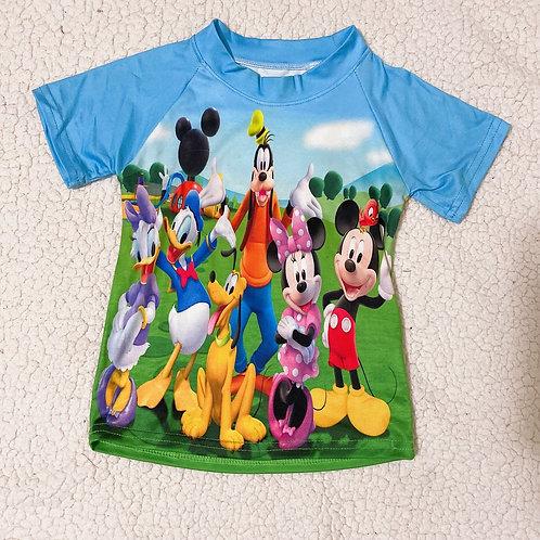 Mickey & friends dress/ raglan