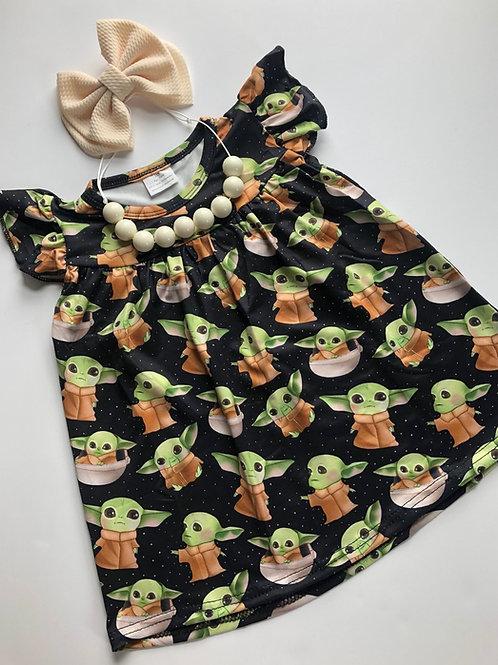 Baby Yoda dress / raglans