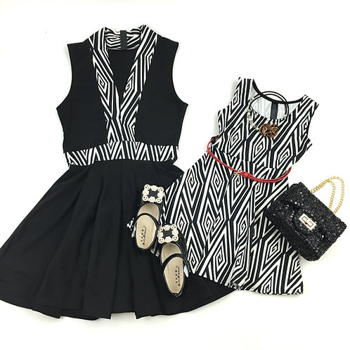 Aztec Black dress (set)