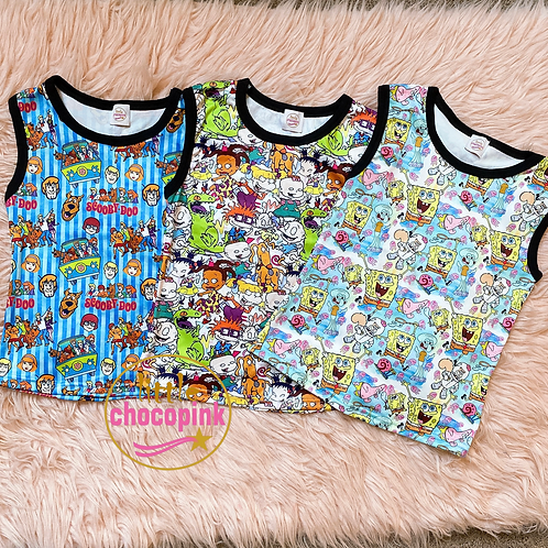 90's Characters hooded/ tank tops