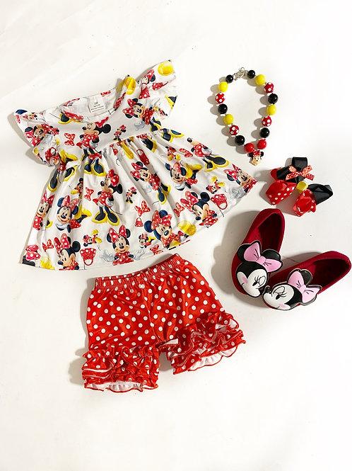 Minnie red dots set