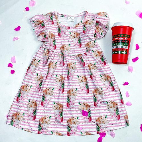 Pink drink dress