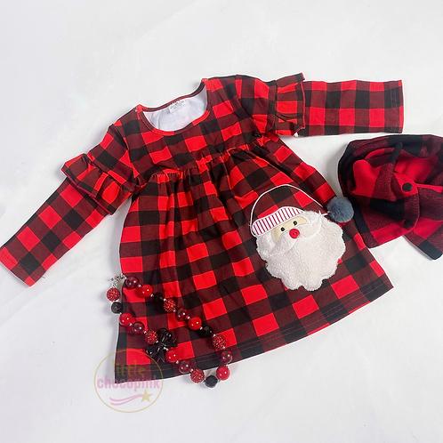 Santa plaid dress