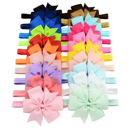 20 pc ( 4.5 inches) bows headbands