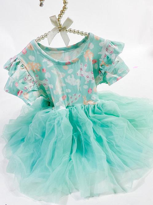 Mint Rabbit tutu dress