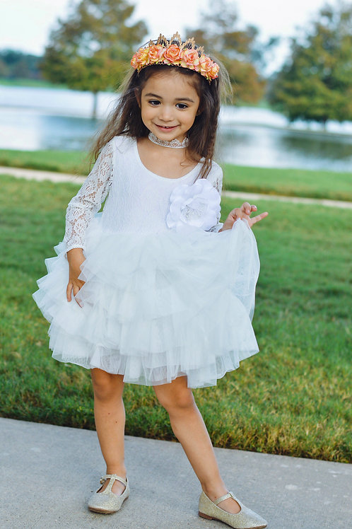 Kimberly dress (peachy pink or white)