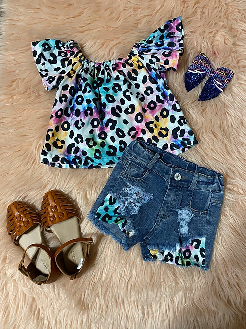 Multicolor cheetah set