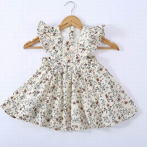 Vintage button floral dress