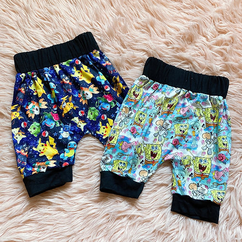 90's Characters harem shorts
