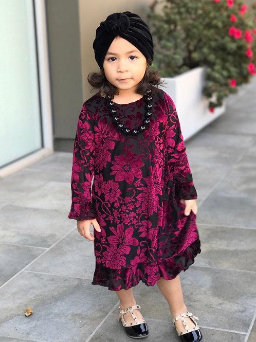 Kenzie lace dress ( maroon / red)