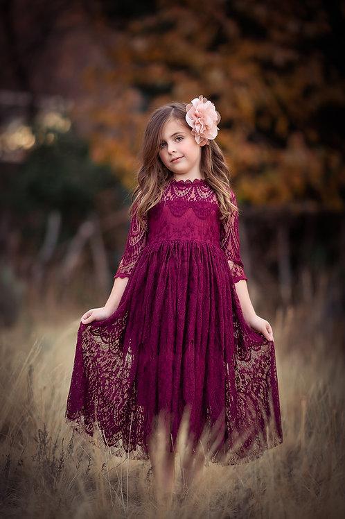 Eleanor dress (burgundy or butterscotch)