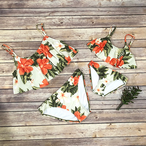 Hibiscus 2 pieces bathing suit