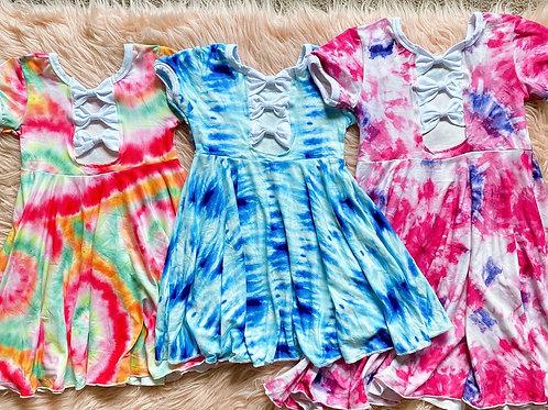 Tie dye Twirl dress