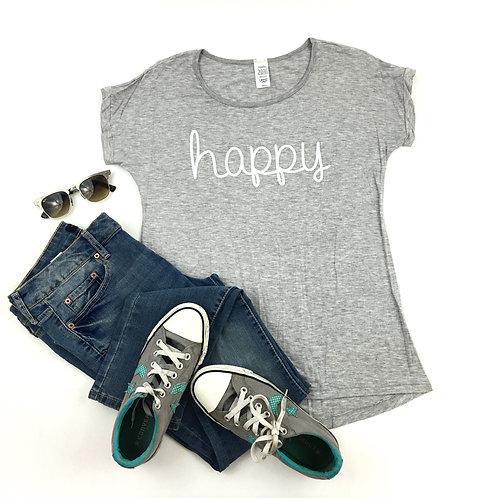 Happy adults tee