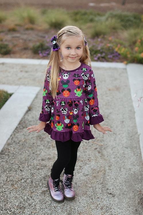 Spooky doodle dress
