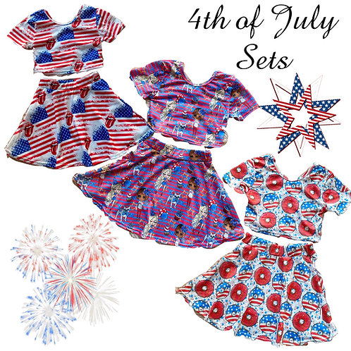 Red white blue sets