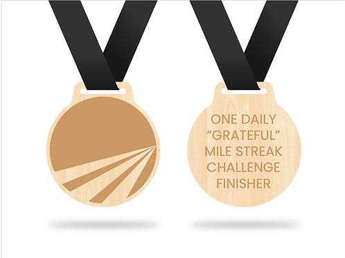 One Daily Grateful Mile Finisher - Medal