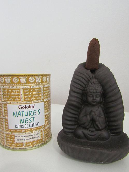 Fuente Incienso Reflujo Buda Paisaje (Incluye Incienso)
