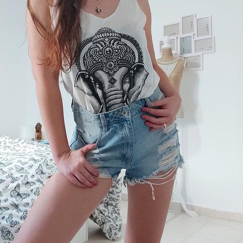 Camiseta Ganesha Blanca