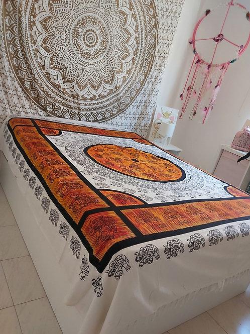 Cubre cama/ Tapiz Terracota