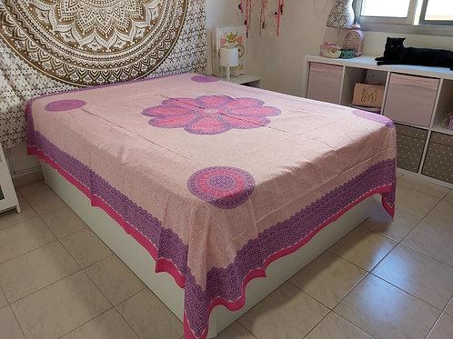 Cubre Cama Mandala Rosa
