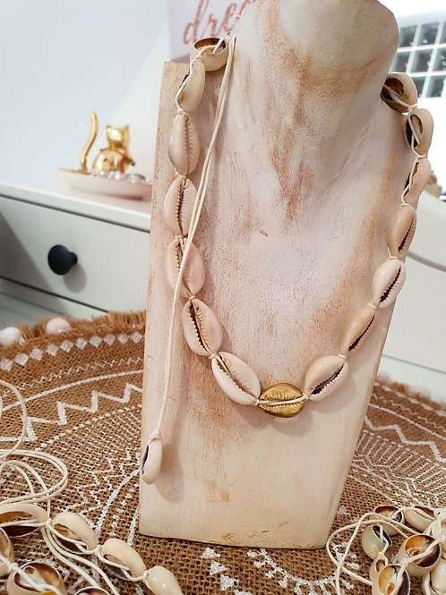 Chocker Ajustable Conchas (Dorado)