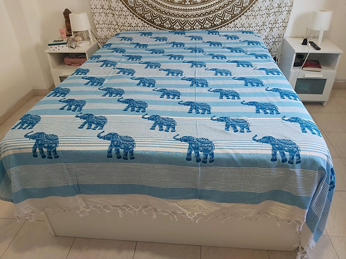 Cubre Cama Elephant Turquesa
