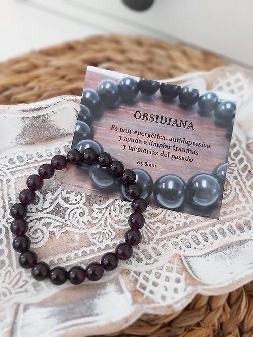 Pulsera Mineral Obsidiana