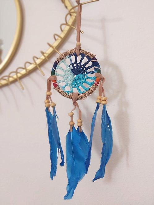 Atrapasueños Croche Azul