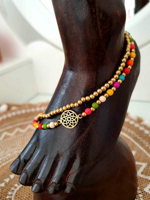 Tobillera Mandala Multicolor