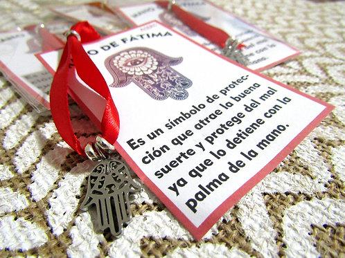 Pulsera Lazo Rojo Mano Fátima