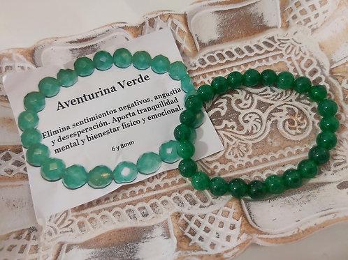 Pulsera Mineral Aventurina Verde