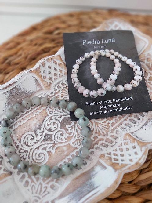 Pulsera Mineral Piedra Luna