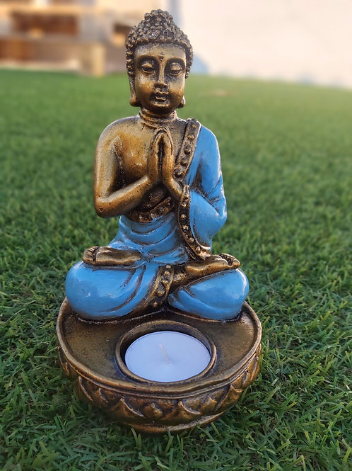 Porta Vela Buda Thai (Azul)