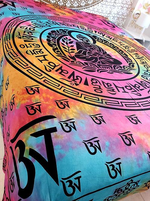 Cubre Cama budha Multicolor