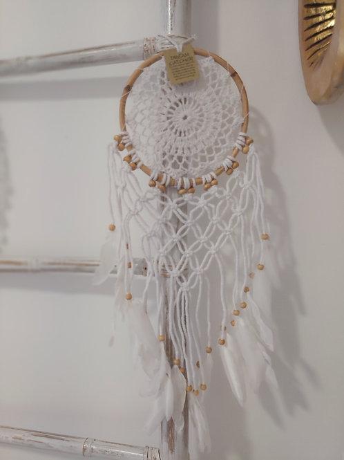 Atrapasueños Blanco Crochet