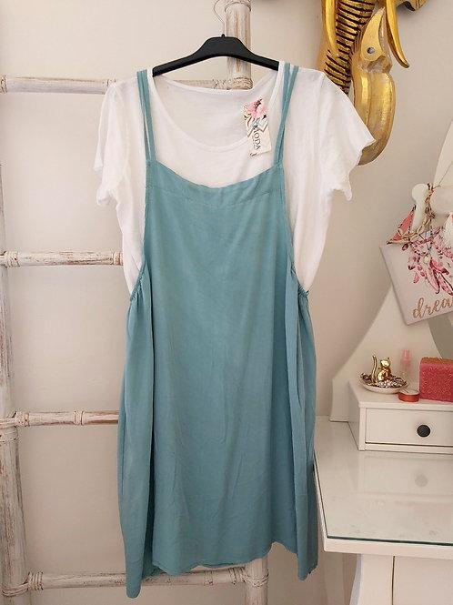 Pichi Vestido Azul + Camiseta