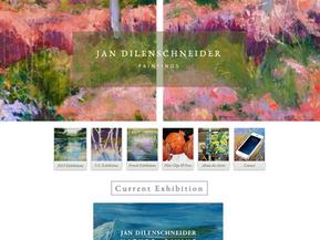 Fine-art online portfolio where the work is the star