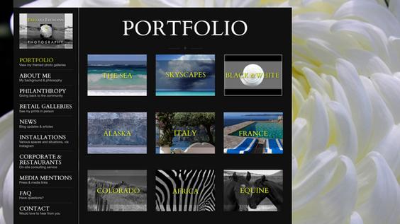 Fine-art photography website