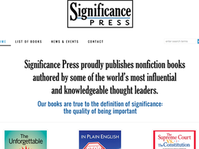Stylish business site for a literary press
