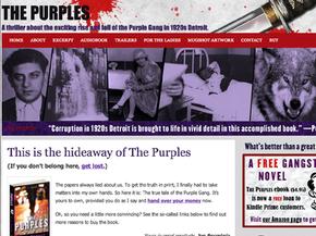 Splashy, evocative website for crime novel