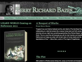 Unique, dark website for a literary novel