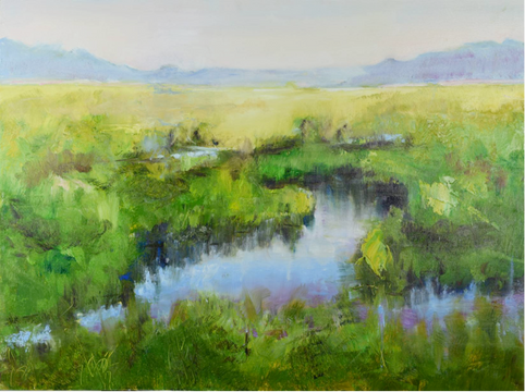 26. Watery marshes