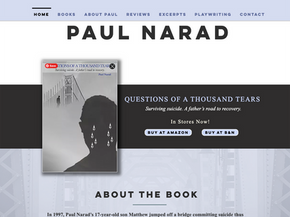 Simple, moody author website