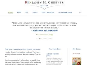 An elegant website for an elegant writer